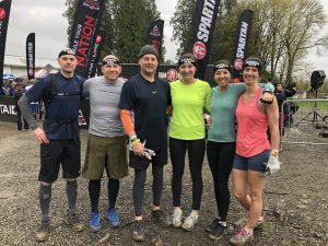 Spartan Race 2018 Seattle Wet Cold Muddy