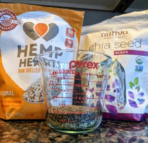 Hemp Hearts and Chia Seeds for Steel Cut Oatmeal